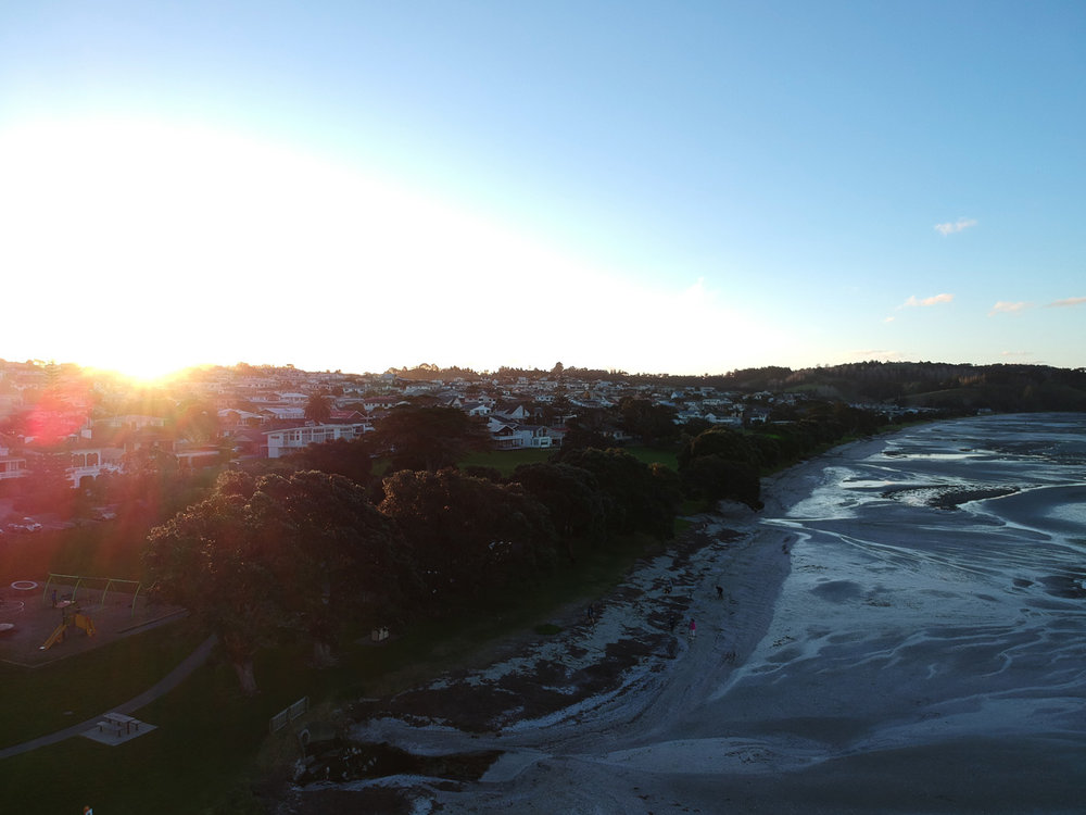 My first aerial photo, unedited -  Snells Beach
