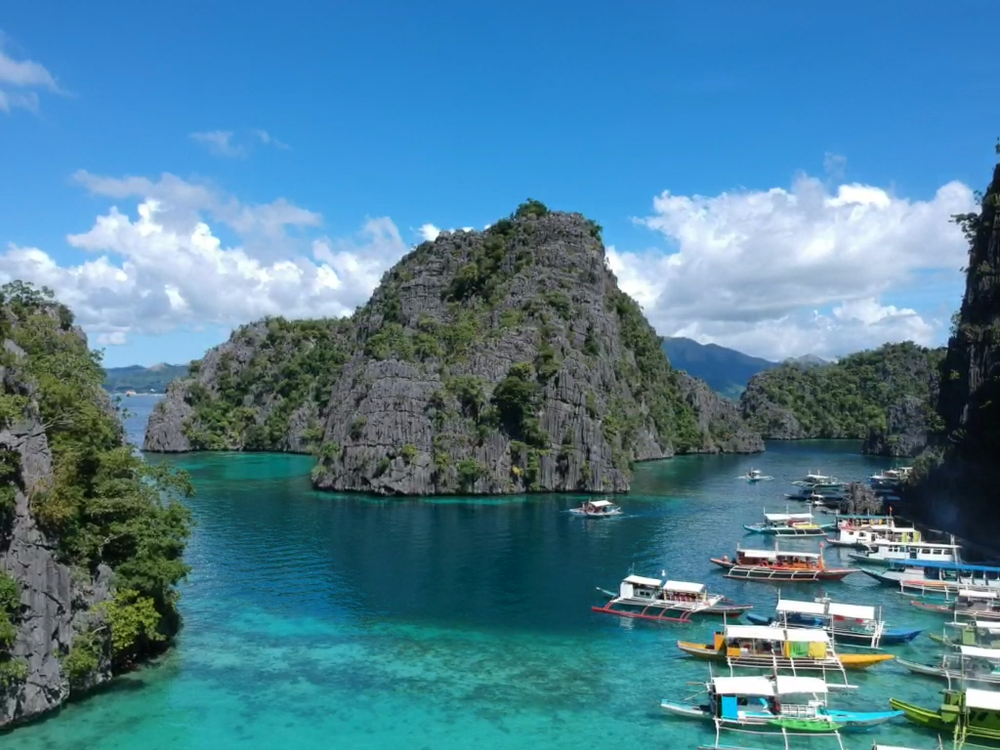 Kayangan lake, drone view