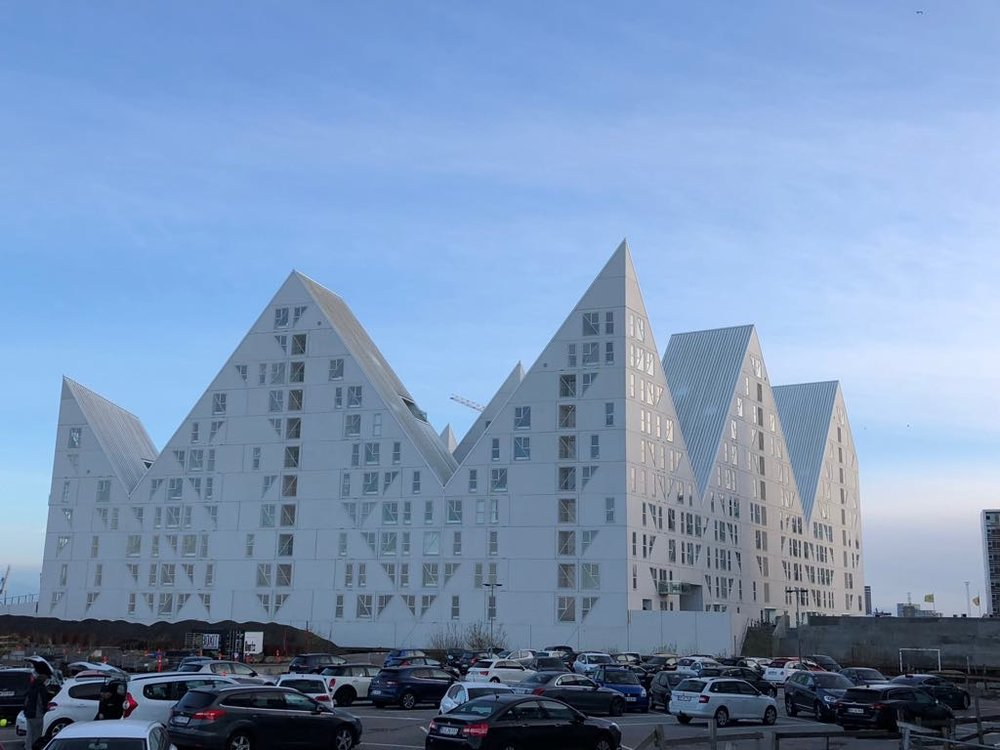 The Iceberg apartment complex in Aarhus