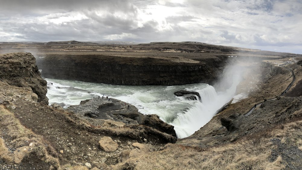 The view of Gullfoss from above