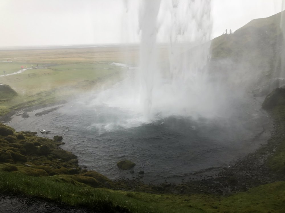Behind the Seljalandsfoss waterafll