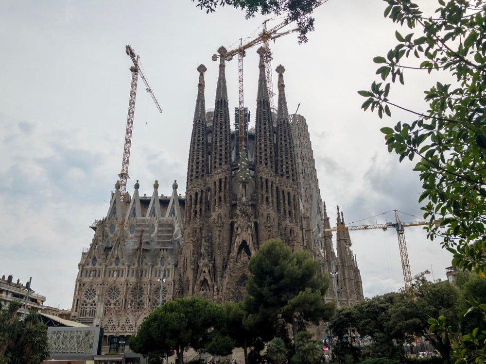 Gloomy day at Sagrada Familia