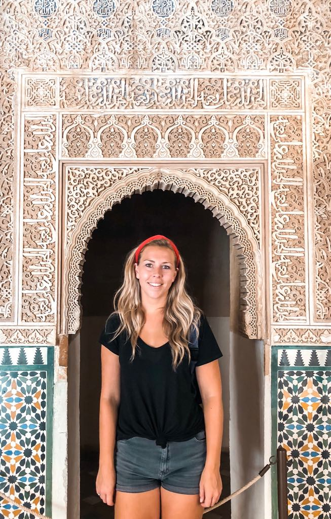 Me enjoying the beauty of the Alhambra