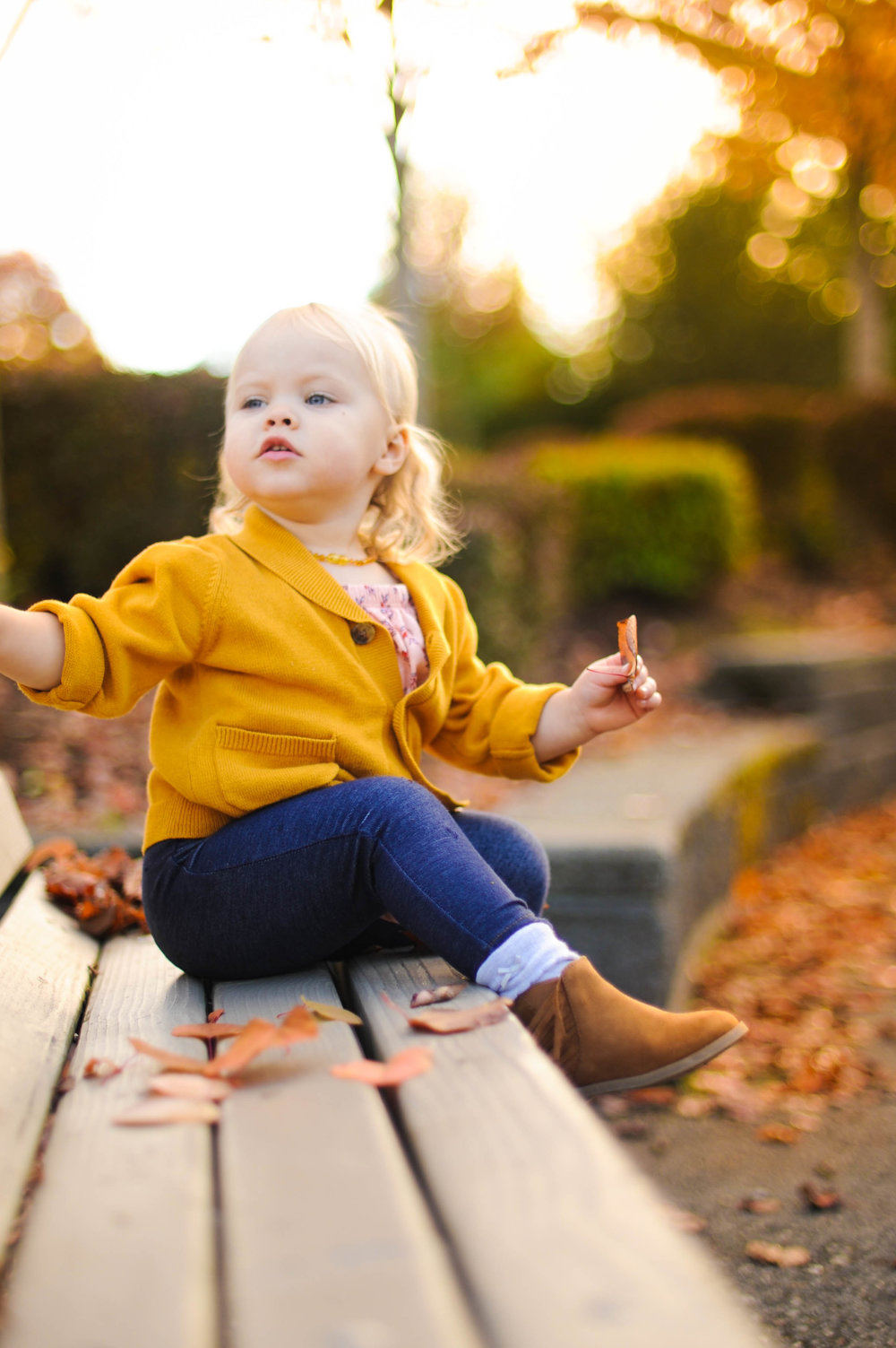 She was clearly worried that another kid was swinging on HER swing... ha ha