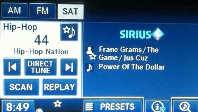 Franc Grams added on SiriusXM
