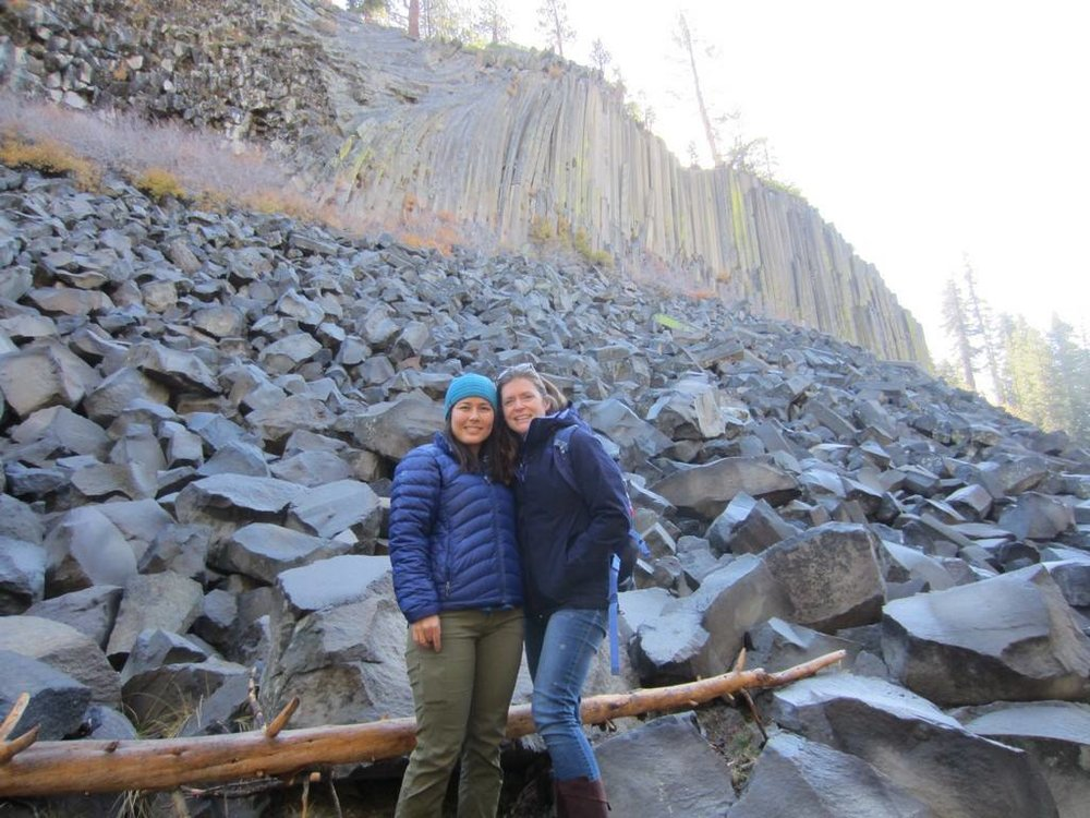 Me and Mele, Devil's Postpile, November 2016