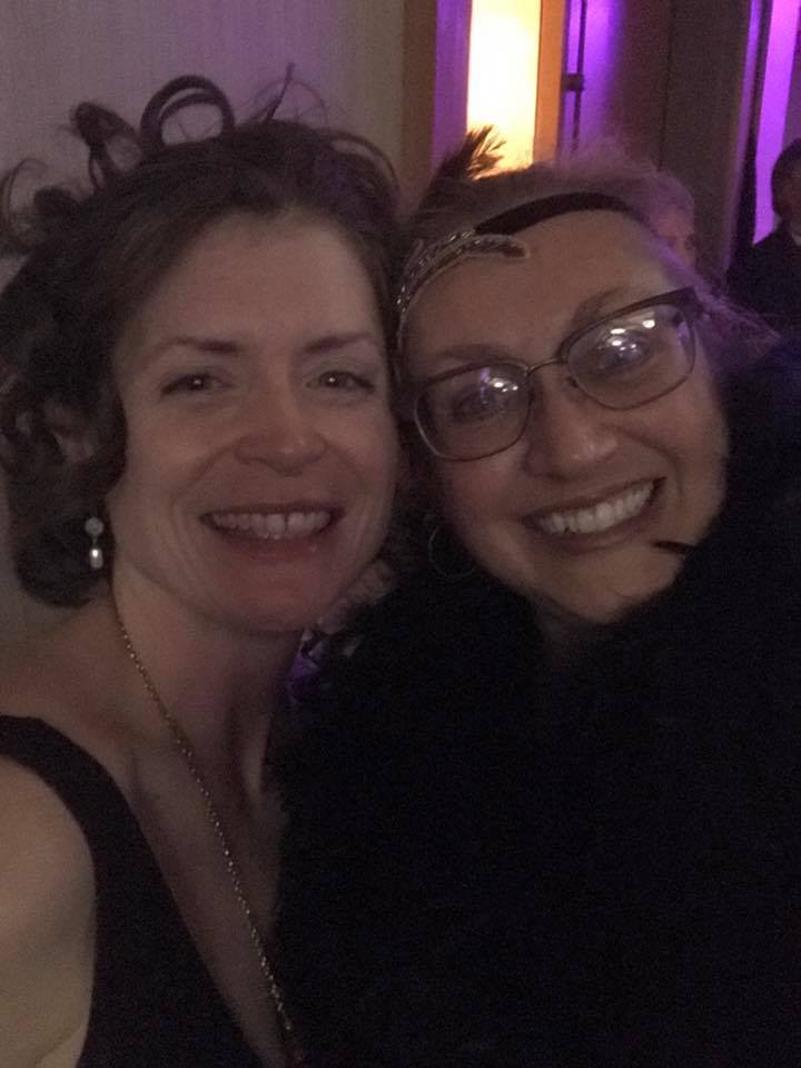Me and Rosanne, Speakeasy Gala, May 2017
