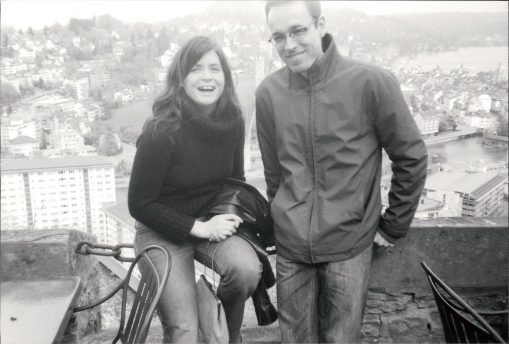 Me and Marco, overlooking Lake Lucerne, Switzerland, 2002