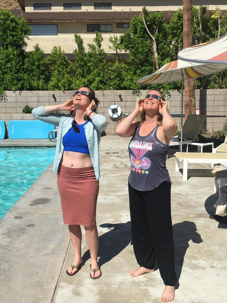 Me and Kate, Palm Springs, California – Solar Eclipse, Monday, August 21, 2017