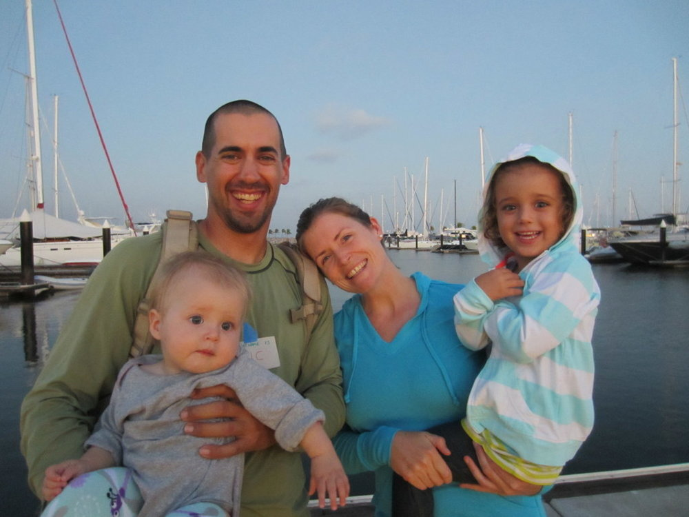 Charlotte and Eric Kaufman and daughters Cora and Lyra