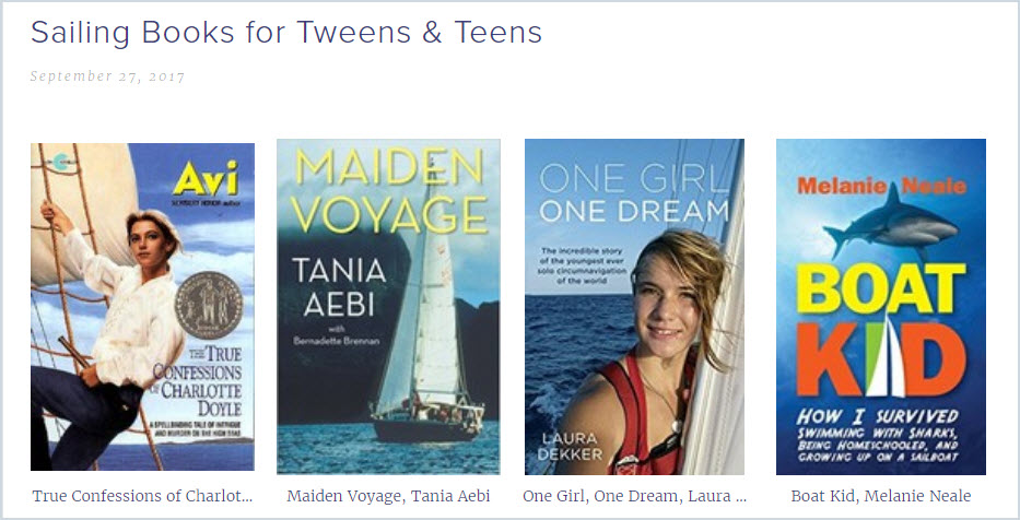 Sailing Book Recommendations for Tweens and Teenagers