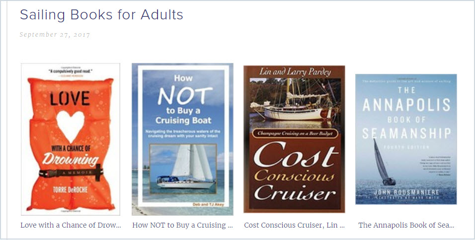 Sailing Book Recommendations for Adults