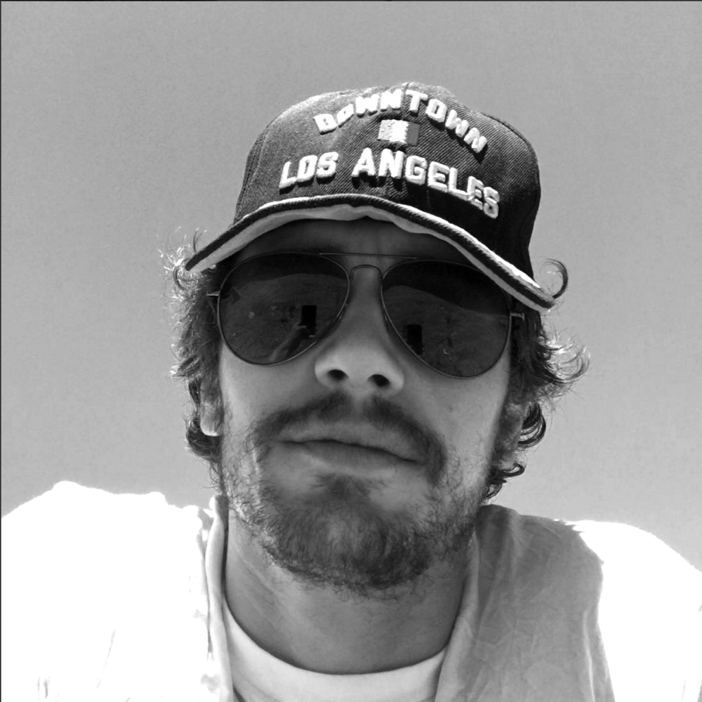 A cool pic of James Franco wearing a hat I designed for Ace Hotel Downtown LA