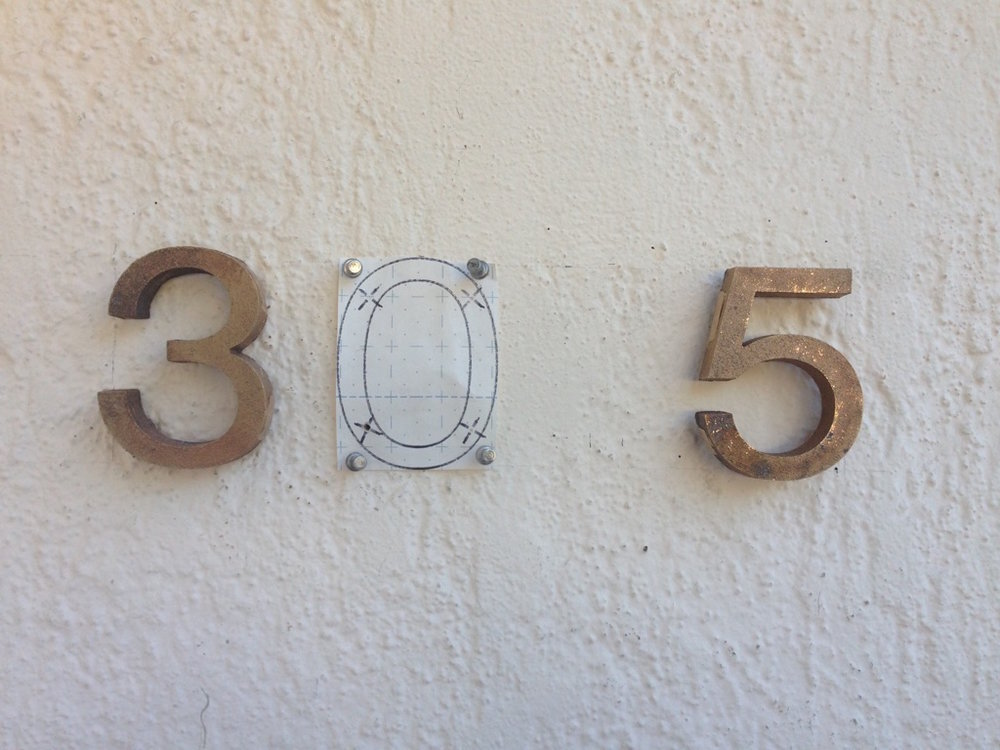 CUSTOM SANDCAST BRONZE HOUSE NUMBERS