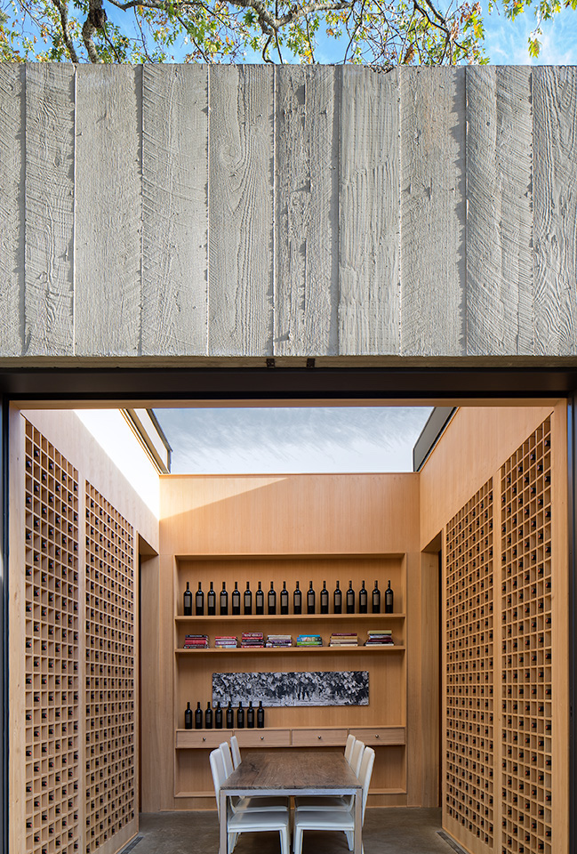 WINE LIBRARY WITH RETRACTABLE ROOF OPEN