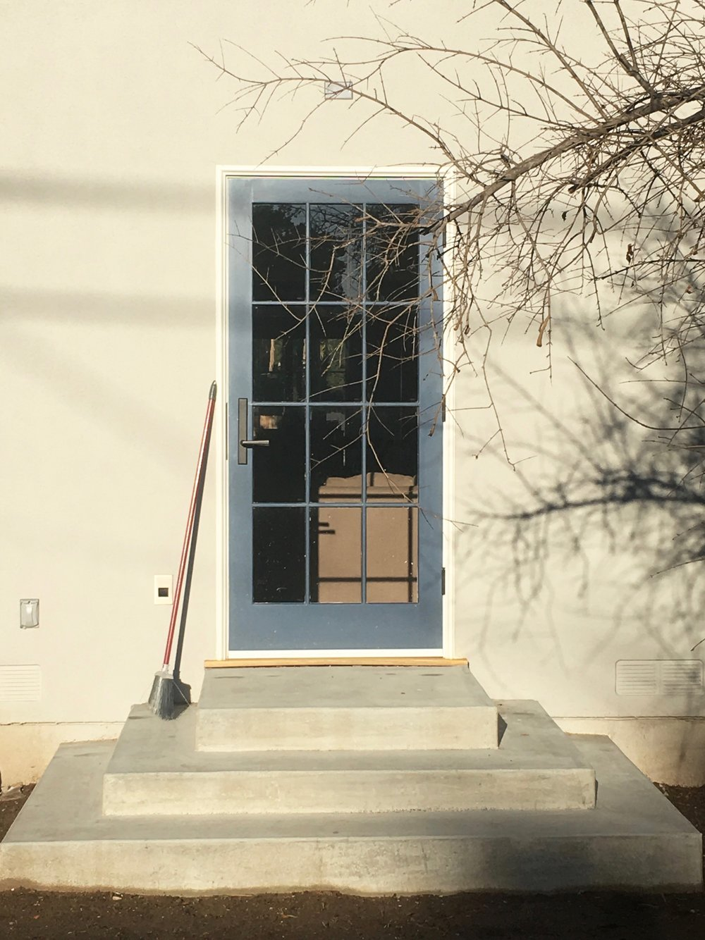 NEW CUSTOM PATIO DOOR TO MATCH HISTORIC DETAILS & NEW CONCRETE STEPS