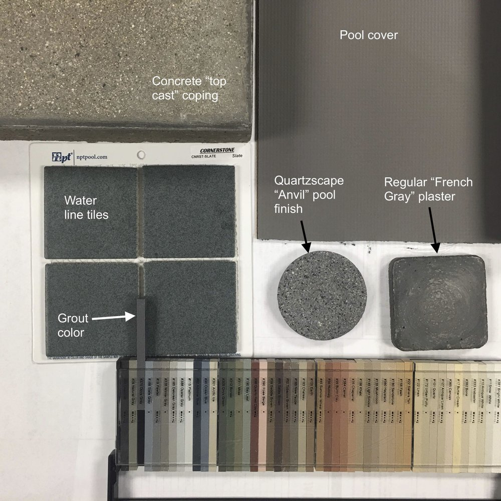 POOL MATERIALS PALETTE