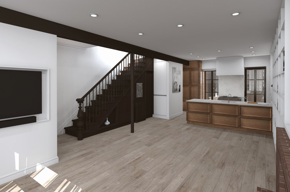 PROPOSED LIVING - DINING - KITCHEN