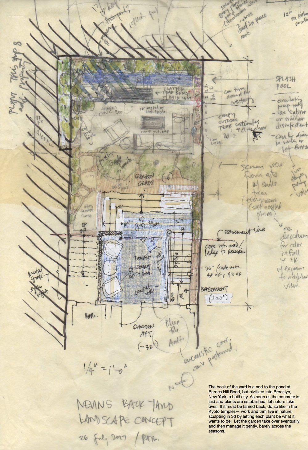 BROOKLYN TOWNHOUSE- REAR COURTYARD LANDSCAPE PLAN