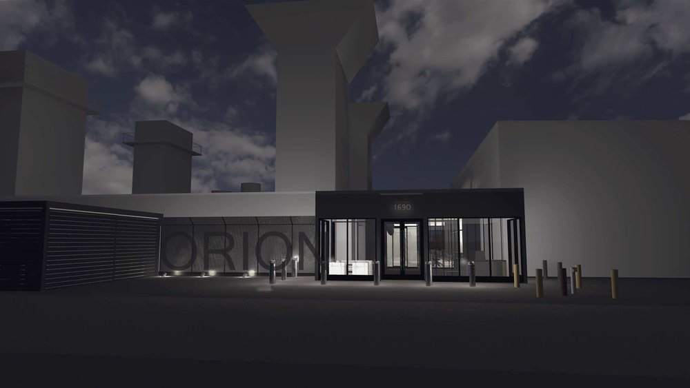 ORION HQ ENTRY- NIGHTTIME