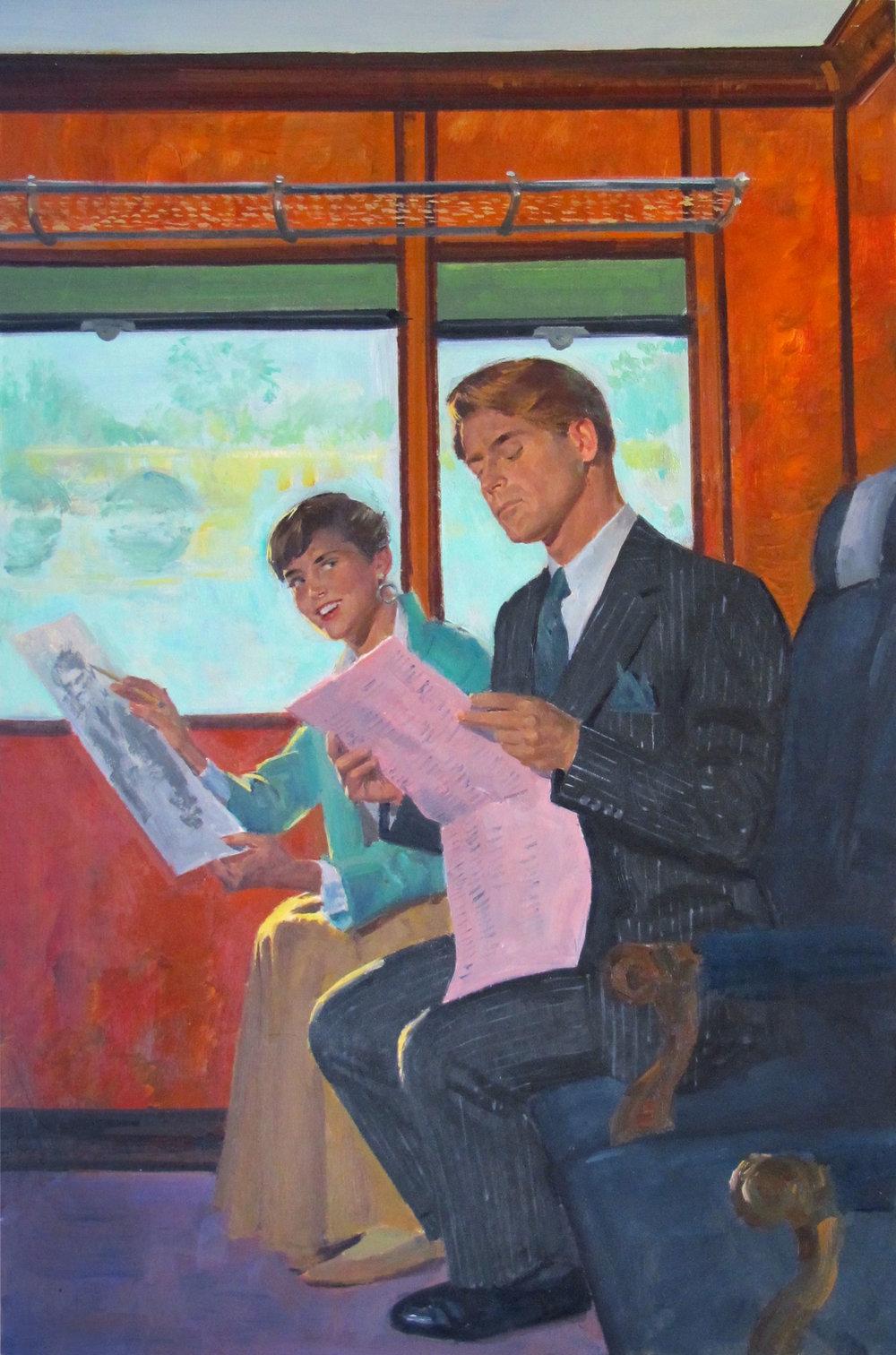 "Portrait of a Stranger, 1990 – 10.5""x16"" – oil (NFS)"