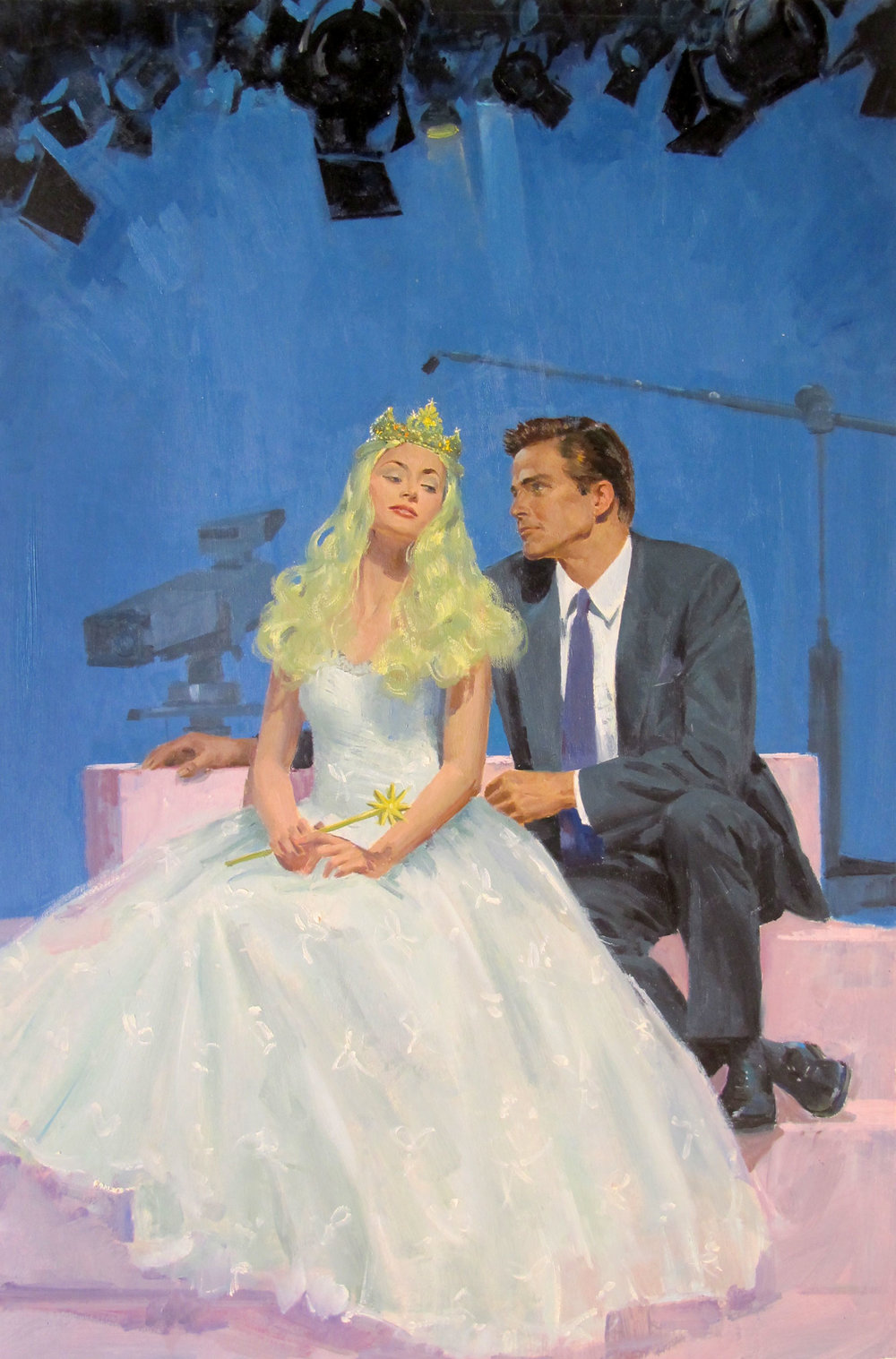 "The Story Princess, 1990 – 11.5""x18"" – oil"