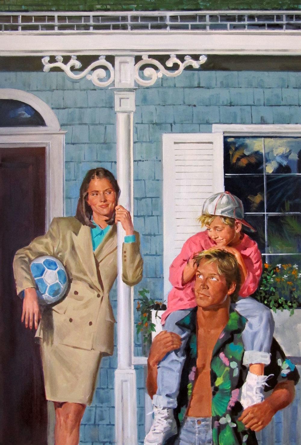 "Island Child, 1994 – 12""x18.5"" – oil"