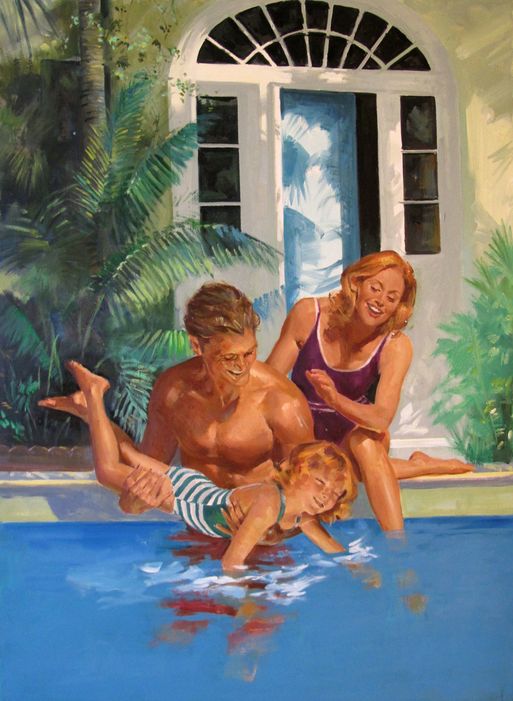 """Storm Haven, 1995 – 13.5""""x19"""" – oil"""