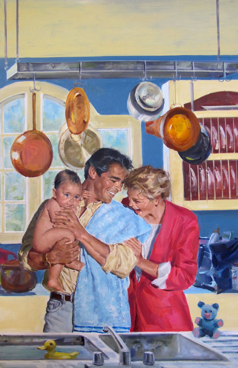"McAllister's Baby, 1996 – 12""x18.5"" – oil"