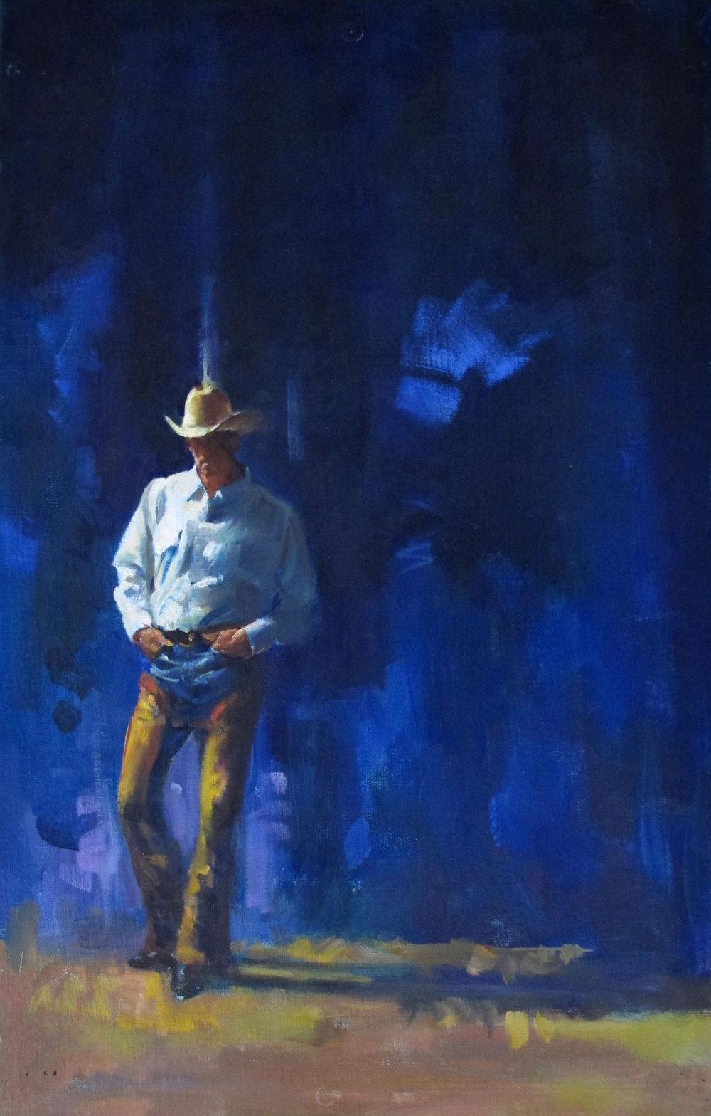 "Cover Art for ""Calhoun (Long, Tall Texans #1)"" – Silhouette – oil"