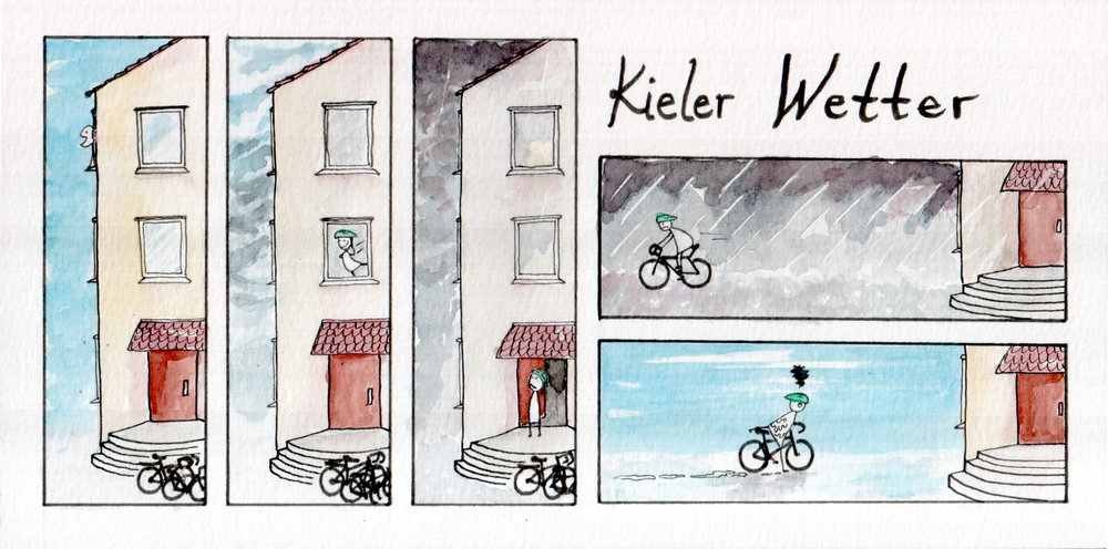 This piece was inspired by every. bike ride. ever. that I have taken in Kiel.