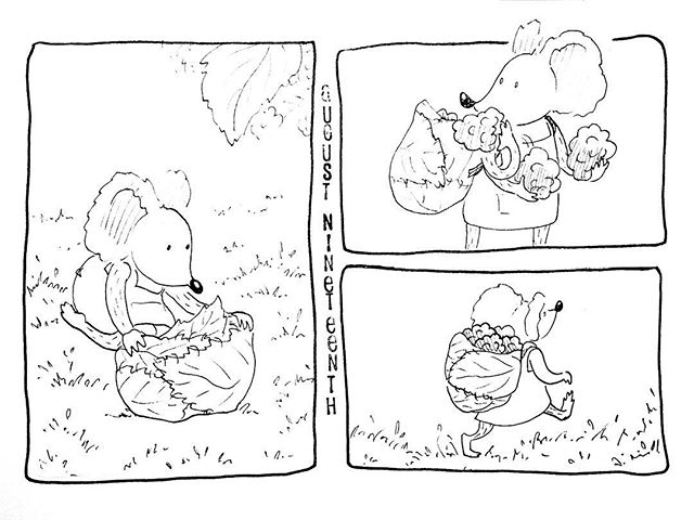 (231/365) Packing some for the road. . #mouse #maus #themousetales #dailymice #wildfood #blackberry #brambles #brombeeren #berrypicking #forest #wald #comic #comics #comicart #comicstrip #drawing #dailydrawing #dailyart #dailydoodle #womenwhodraw #illustration #art #ink #penandink #penandinkdrawing #graphicstorytelling #visualstorytelling #dailystory
