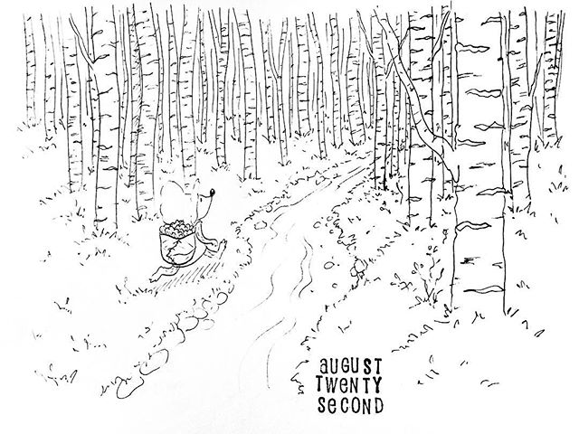 (234/365) Into the woods. . #mouse #maus #themousetales #dailymice #hike #dayhike #forest #wald #comic #comics #comicart #comicstrip #drawing #dailydrawing #dailyart #dailydoodle #womenwhodraw #illustration #art #ink #penandink #penandinkdrawing #graphicstorytelling #visualstorytelling #dailystory