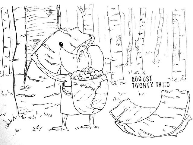 (235/365) Oh, don't mind me, I'm just peeling some tree bark over here. . #mouse #maus #themousetales #dailymice #hike #dayhike #forest #birch #treebark #wald #comic #comics #comicart #comicstrip #drawing #dailydrawing #dailyart #dailydoodle #womenwhodraw #illustration #art #ink #penandink #penandinkdrawing #graphicstorytelling #visualstorytelling #dailystory