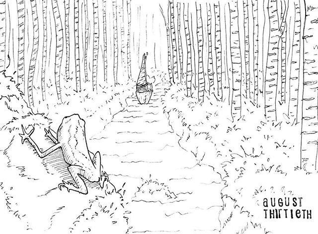 (241/365) Out there boating about like. . #mouse #maus #themousetales #dailymice #forest #birch #treebark #wald #boat #birchbark #birchbarkcanoe #frog #comic #comics #comicart #comicstrip #drawing #dailydrawing #dailyart #dailydoodle #womenwhodraw #illustration #art #ink #penandink #penandinkdrawing #graphicstorytelling #visualstorytelling #dailystory