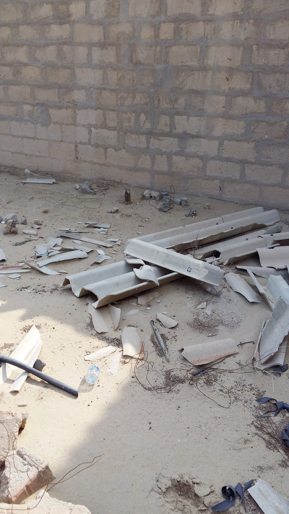 Asbestos Cement Sheeting Debris, Doha, Qatar