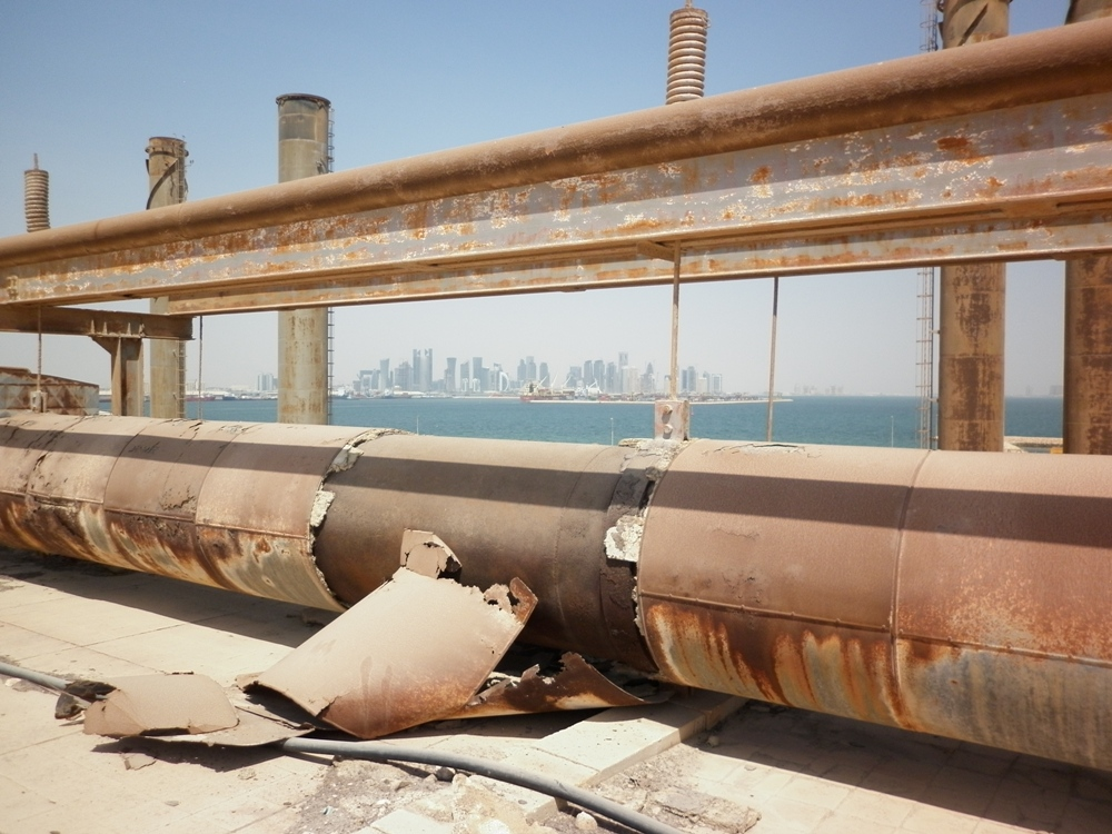 Asbestos Pipe Insulation Debris, Doha, Qatar