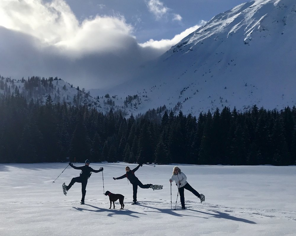 When yogis play in the snow!