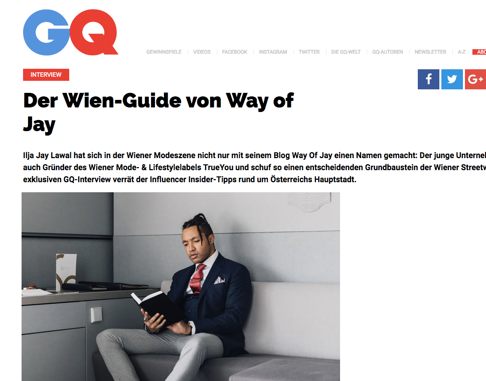 GQ - Der Wien-Guide von Way of Jay