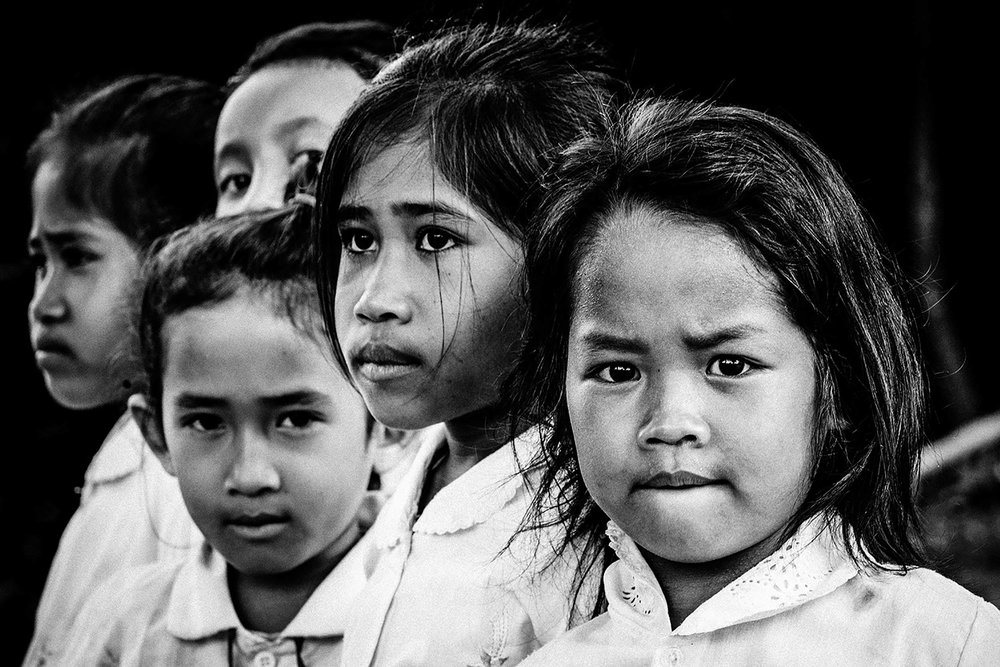 School girls, Southern Laos