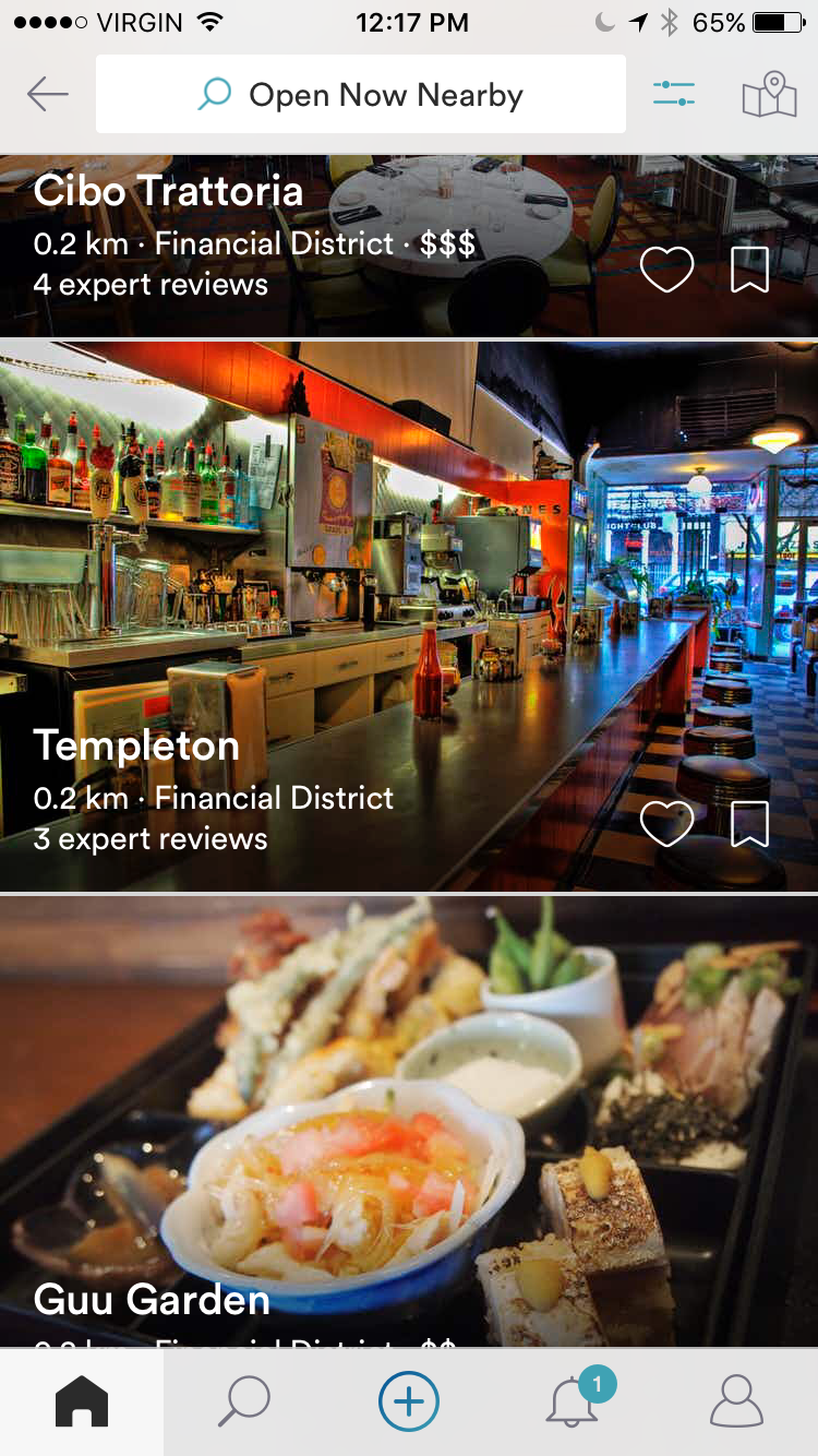 Spot App Restaurants Nearby