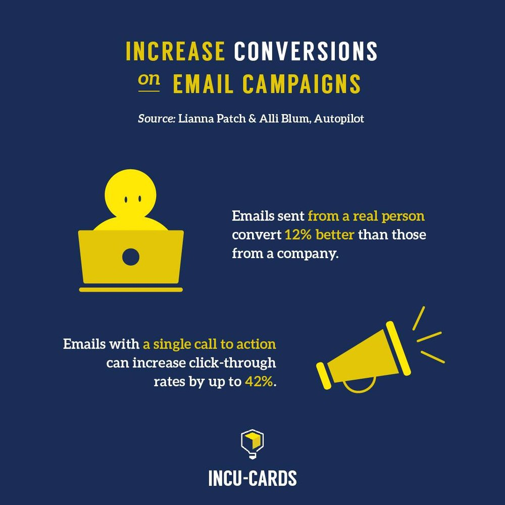 Keep email campaigns simple and personal.