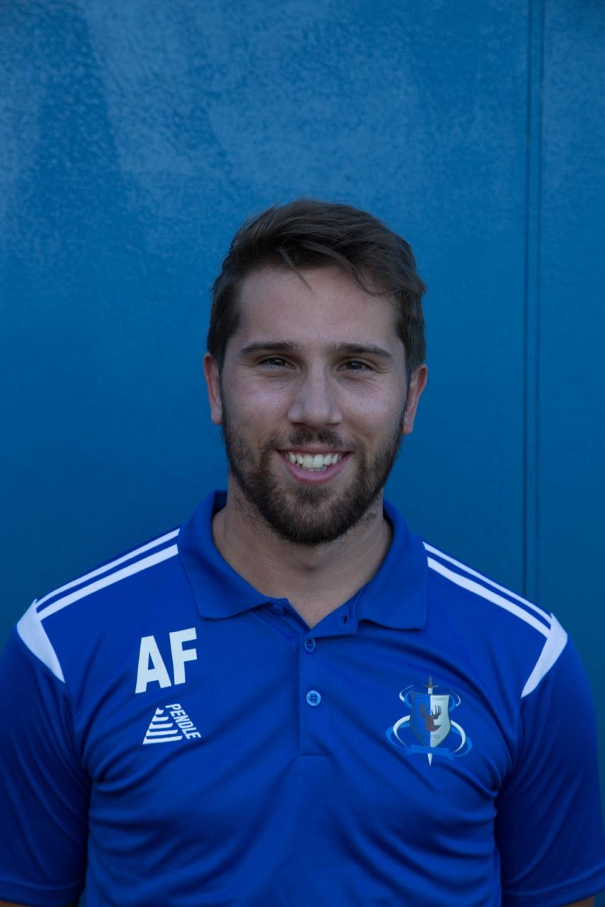 First team co-manager Aaron Fry