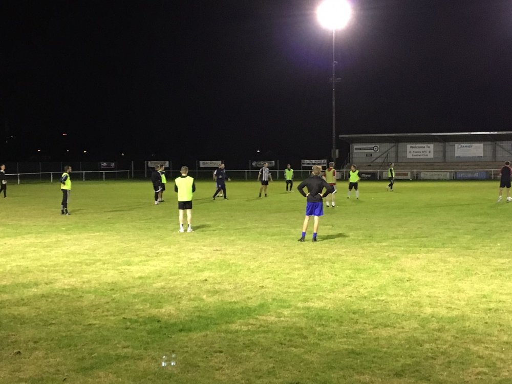 Millwall Lionessess manager Lee Burch took tonights session
