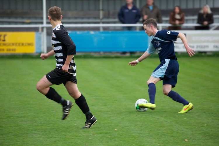 Tom Hardiman in action against Bemerton HH in the 3 - 2 home win last season