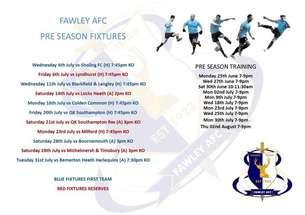 The Pre-Season Schedule for 2018/19