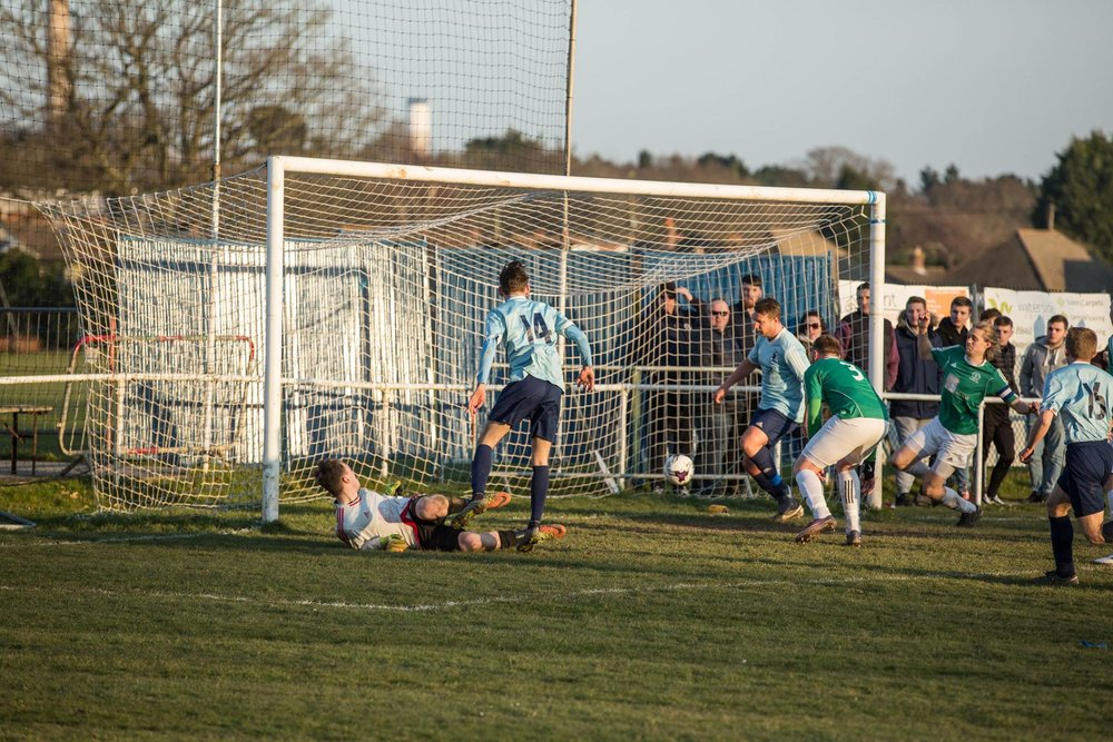 Ben Murphy scores the late winner against Hythe & Didben last season