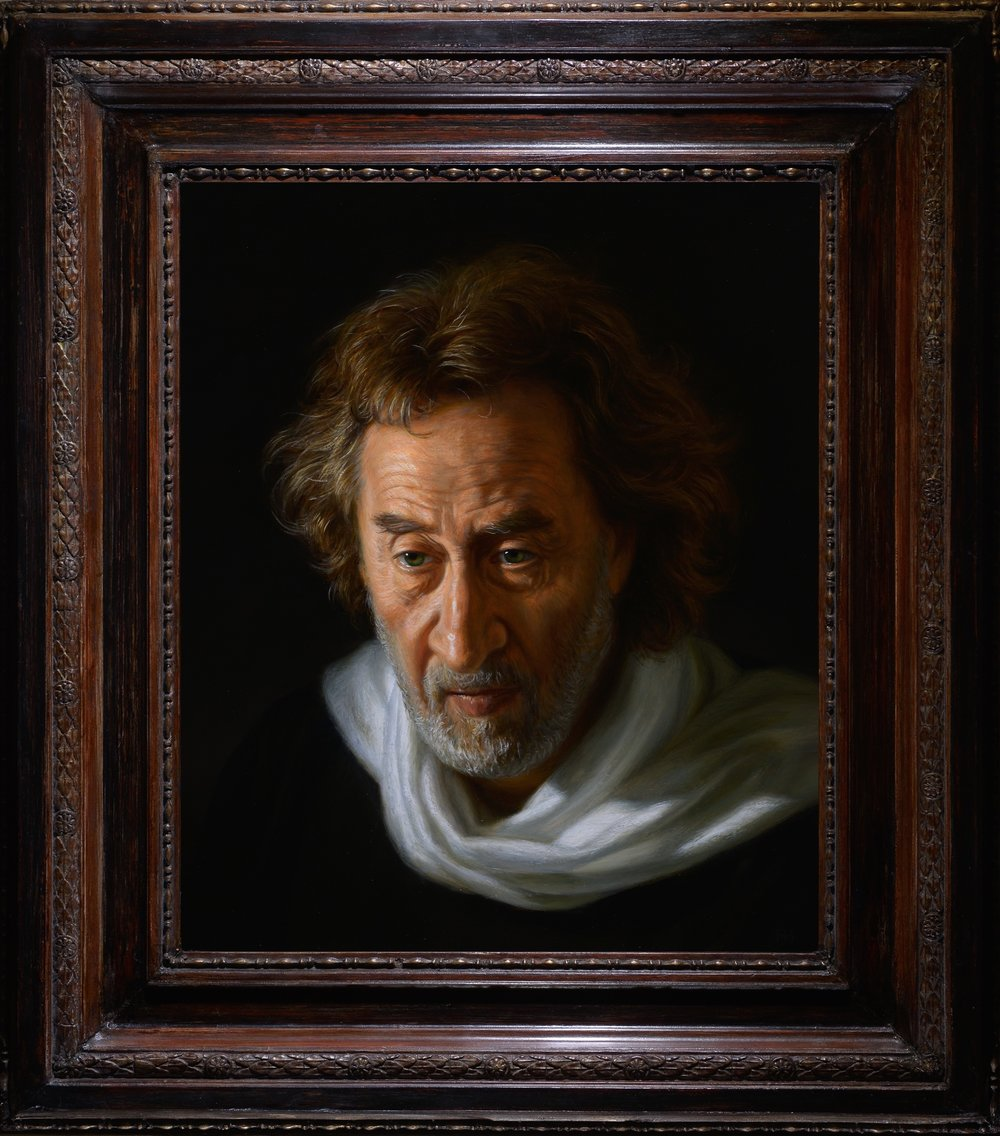 "Ralph Heimans,  Howard Jacobson: ""no sighs but of my breathing..."" (The Merchant of Venice)  Oil on panel"