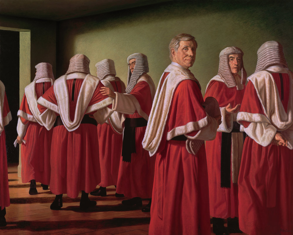 Ralph Heimans,  Radical Restraint: Justice Michael Kirby  Oil on canvas, 188 x 230cm National Portrait Gallery of Australia