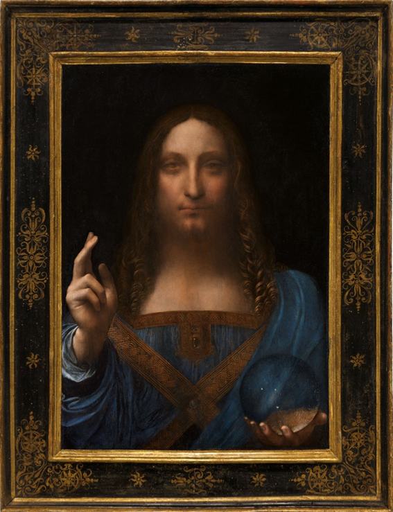 Leonardo da Vinci's Salvator Mundi (circa 1500) Courtesy of Christie's, 2017